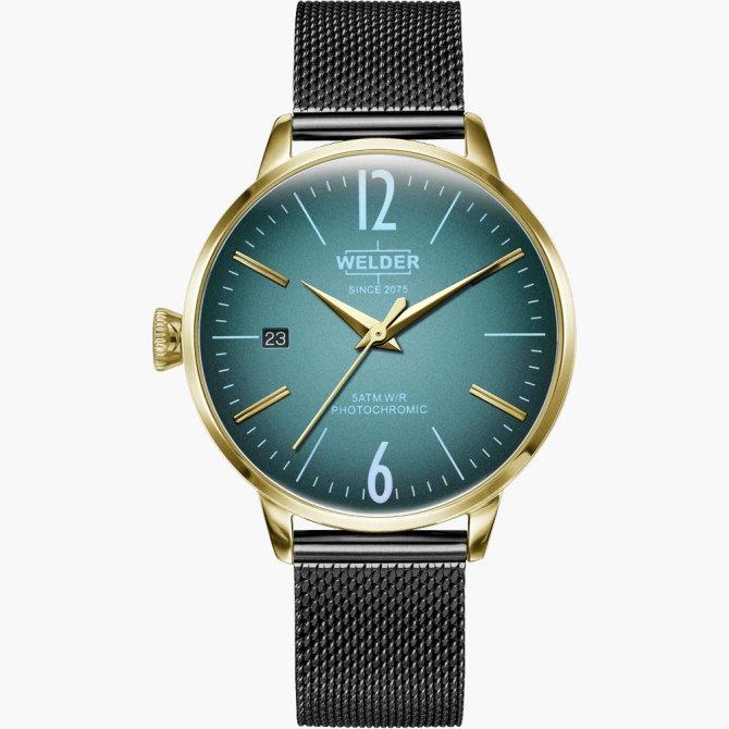 【送料無料】WELDER MOODY ウェルダームーディ 光の角度に応じて色を変える偏光ガラスを採用した腕時計 36MM 3HANDS MOODY WRC729【NP】