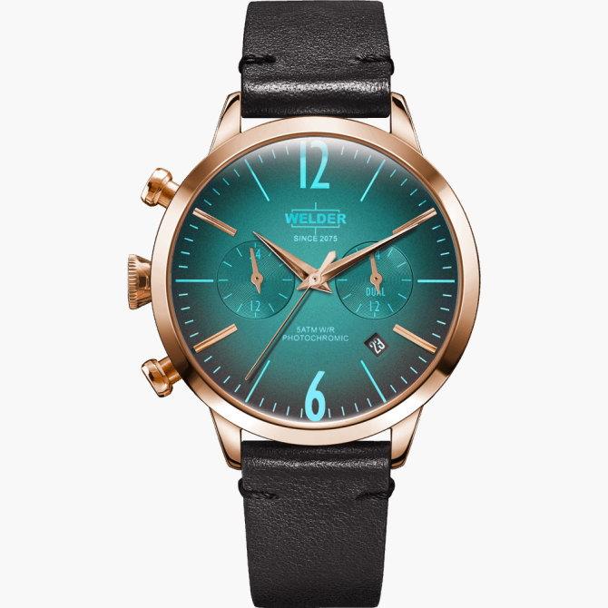 【送料無料】WELDER MOODY ウェルダームーディ 光の角度に応じて色を変える偏光ガラスを採用した腕時計 38MM DUAL MOODY WWRC102【NP】