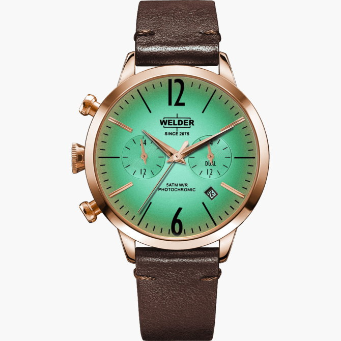 【送料無料】WELDER MOODY ウェルダームーディ 光の角度に応じて色を変える偏光ガラスを採用した腕時計 38MM DUAL MOODY WWRC104【NP】