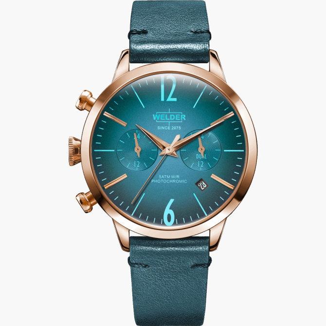 【送料無料】WELDER MOODY ウェルダームーディ 光の角度に応じて色を変える偏光ガラスを採用した腕時計 38MM DUAL MOODY WWRC105【NP】