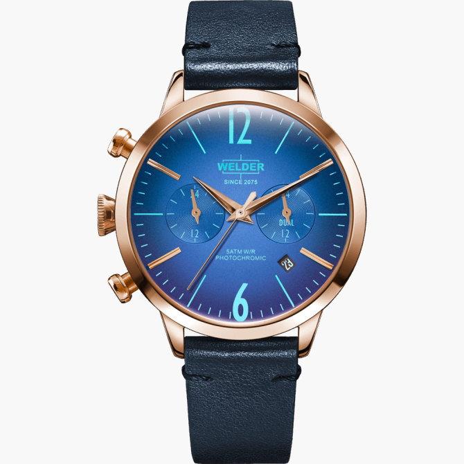 【送料無料】WELDER MOODY ウェルダームーディ 光の角度に応じて色を変える偏光ガラスを採用した腕時計 38MM DUAL MOODY WWRC106【NP】