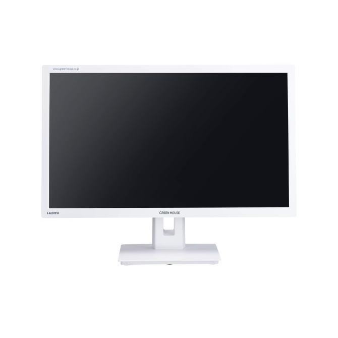 グリーンハウス 21.5型ワイドカラー LED液晶ディスプレイ HDCP対応 DisplayPort搭載 GH-LCW22G-WH(ホワイト) GHLCW22GWH