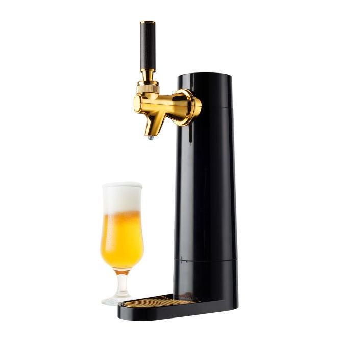 【送料無料】GREEN HOUSE グリーンハウス ビアホール気分を味わえるスタンドビールサーバー スタンド型 超音波式 GH-BEERO(BK-ブラック)GHBEEROBK