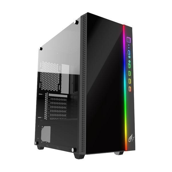 【送料無料】KEIAN 恵安 新ゲーミングブランド「GRAXIA」 サイド全面強化ガラス採用 PCケース GX-PCP-RGB GXPCPRGB