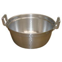 イベント用品 模擬店用品 お祭りで大活躍♪ 万能鍋! 43L アルミ製打ち出し アルミ段つき鍋54cm