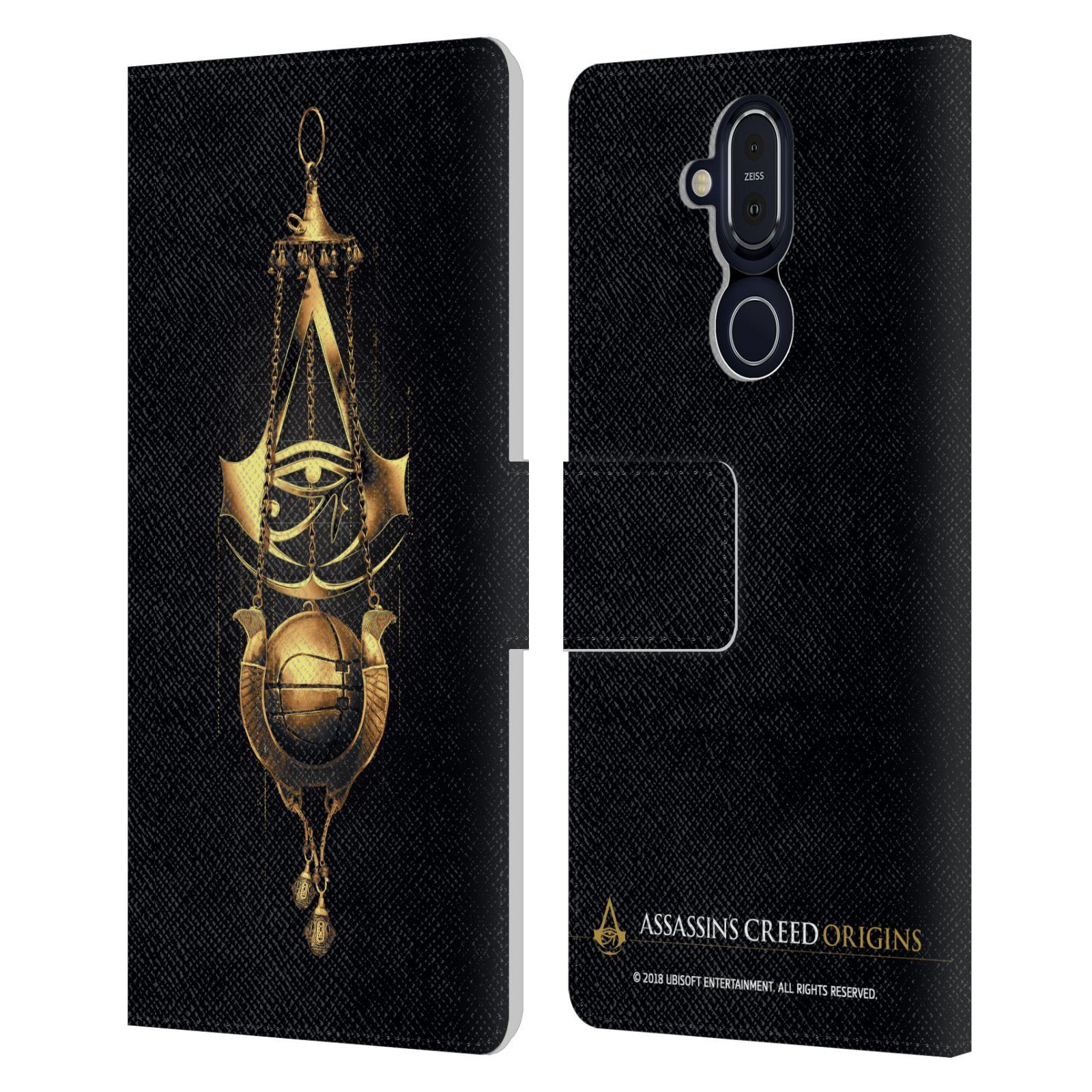 5.3 6.2 7.2 引出物 オフィシャル Assassin's Creed レザー手帳型ウォレットタイプケース Nokia クレスト 電話 全品最安値に挑戦 Origins