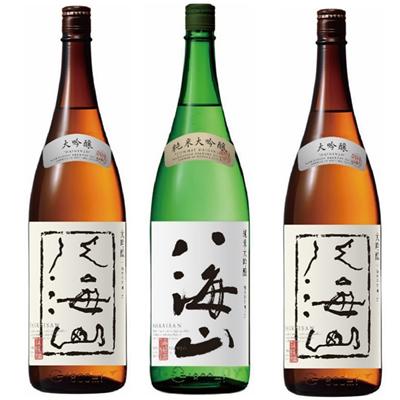 八海山 吟醸 1.8Lと八海山 純米吟醸 1.8L と 八海山 吟醸 1.8L 日本酒 3本 飲み比べセット