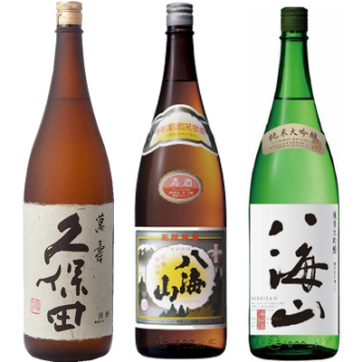 久保田 萬寿 純米大吟醸1800ml と 八海山 普通酒 1800ml と 八海山 純米吟醸 1800ml 日本酒飲み比べセット