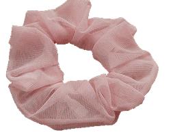 海やプールでも使える濡れてもOKのシュシュ 5☆大好評 ワンポイントに可愛いシュシュ 市販 海やプールでも使える シースルーシュシュカラー:ピンク