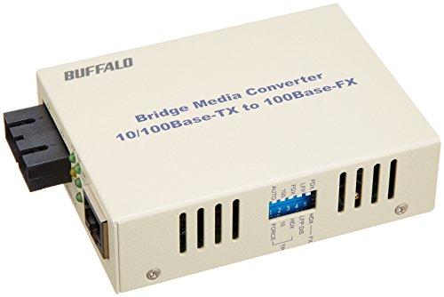バッファロー 光メディアコンバータ 100BASE-TX<->100BASE-FX(SC)変換 シングルモード5km【smtb-s】