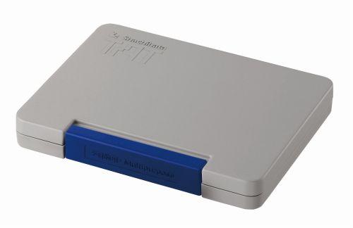 送料無料 シャチハタ 特価 限定特価 TATスタンプ台N 多目的用 藍 大 ATGN-3-B