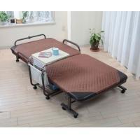 キュービック合同会社 サイドテーブル付 折りたたみ ベッド