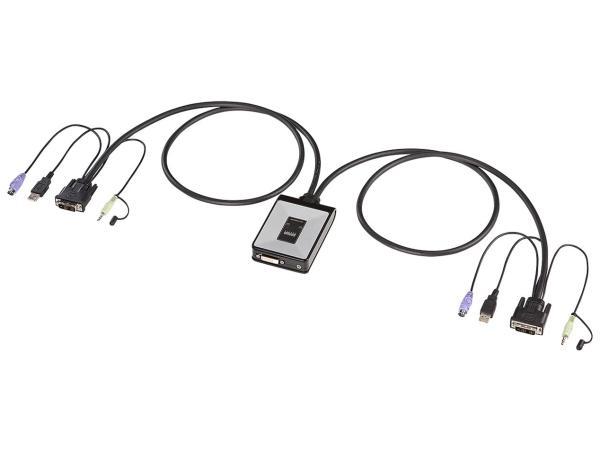 サンワサプライ ディスプレイエミュレーション対応DVIパソコン自動切替器(2:1) SW-KVM2DXN(SW-KVM2DXN)【smtb-s】