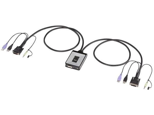 サンワサプライ ディスプレイエミュレーション対応DVIパソコン自動切替器(2:1) SW-KVM2DUN(SW-KVM2DUN)【smtb-s】