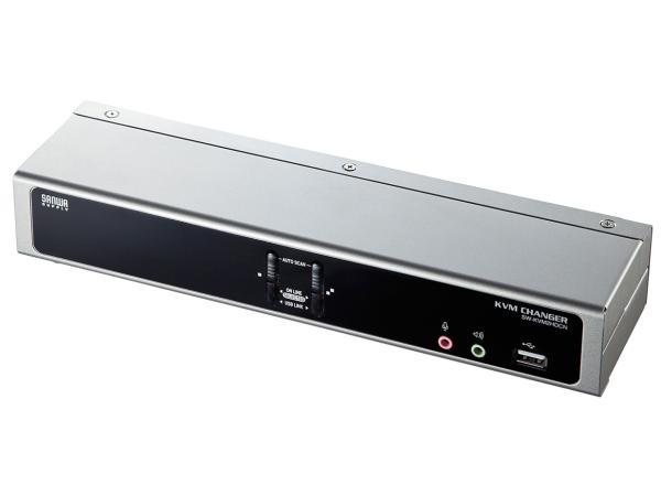 サンワサプライ デュアルリンクDVI対応パソコン自動切替器(2:1) 品番:SW-KVM2HDCN【smtb-s】