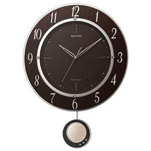 リズム時計 RHYTHM 電波 掛け時計 トライメテオDX 振り子時計 茶 8MX403SR23【smtb-s】