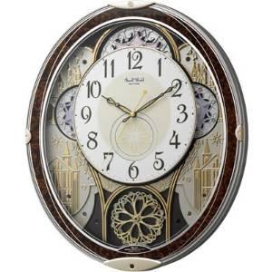 リズム時計 スモールワールド メロディ電波からくり掛時計(30曲入)   4MN539RH23