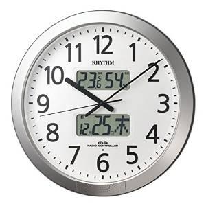 リズム時計 RHYTHM リズム 電波 掛け時計 プログラムカレンダー404SR 4FN404SR19【smtb-s】