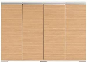 フナモコ 奥行31cm薄型リビング収納 【幅120.2×高さ84cm】 エリーゼアッシュ+ホワイトウッド LBA-120【smtb-s】