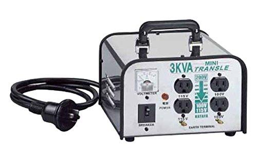 ハタヤリミテッド ミニトランスル 降圧型 単相200V→100・115V 3.0KVA 3703690【smtb-s】