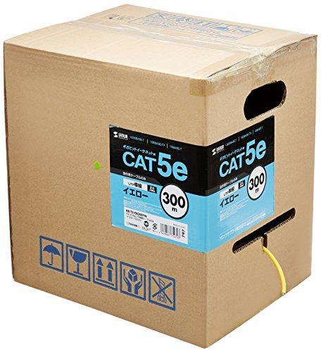 サンワサプライ カテゴリ5eUTP単線ケーブルのみ 品番:KB-T5-CB300YN【smtb-s】