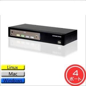 CONNECTPRO DDM搭載USB1.1/2.0KVMスイッチ(DVIモデル) 4ポート UD-14+【smtb-s】
