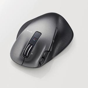 送料無料 エレコム ULTIMATE LASERマウス Lサイズ M-XGL20DLBK 2.4GHz 無線 信頼 ブラック 最新アイテム 8ボタン+チルト