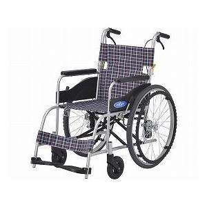 日進医療器 アルミ自走車いす NEO-1 / 座幅40cm 1台 トリコロールチェック【smtb-s】