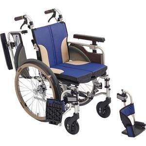 MiKi(ミキ)アルミ製車椅子 【新スキット】SKT-1000 [モジュール車いす] (シート色:ブルー)【smtb-s】