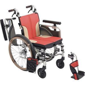 MiKi(ミキ)アルミ製車椅子 【新スキット】SKT-1000 [モジュール車いす] (シート色:レッド)【smtb-s】