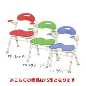 アロン化成 折りたたみシャワーベンチ FS(536-050 レッド)【smtb-s】
