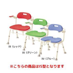アロン化成 折りたたみシャワーベンチ IS (座面角型)(536-326 グリーン)【smtb-s】