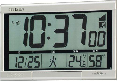 リズム時計工業 ( 株 ) 掛け時計 置き時計 兼用  8RZ062018 3037 シチズン パルデジットR062 3646050