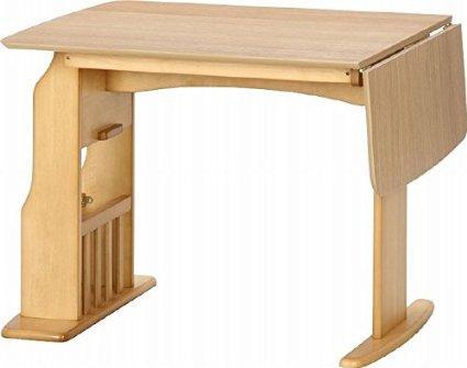 不二貿易 食卓4点セット ウィング テーブル12075NA 6329-4VM17-12 【10600】 ※北海道、沖縄、離島配送不可【smtb-s】