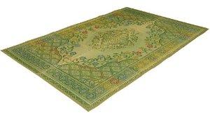 イケヒコ・コーポレーション 純国産 い草花ござカーペット 『アシック』 グリーン 本間6畳(約286×382cm)