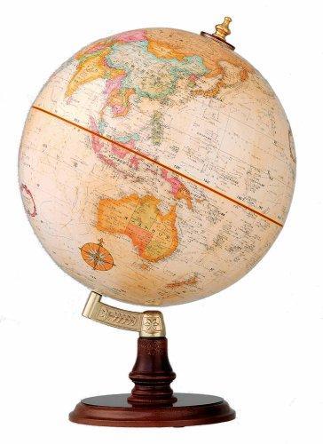丸善(MARUZEN) リプルーグル地球儀 クランブルック型 日本語版 ブラウン  31470【smtb-s】