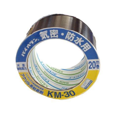 ダイヤテックス * パイオラン 気密テープ片面 黒 KM-30-BK 75ミリ【入数:24】【smtb-s】