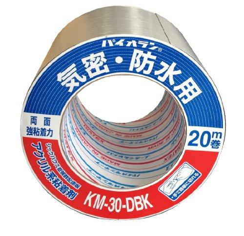 ダイヤテックス * パイオラン 気密テープ両面 黒 KM-30-DBK 75ミリ【入数:16】【smtb-s】