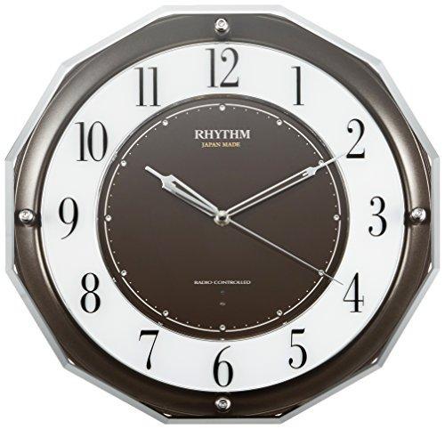 RHYTHM(リズム時計) 【日本製】《高感度電波時計》 スリーウェイブ M846 茶メタリック 4MY846SR06【smtb-s】