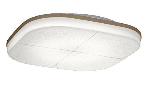 YAZAWA LEDシーリングライト ~12畳 和風柄模様つき 電球色~昼光色 連続調色・連続調光機能付き LEC-CH1220CJ