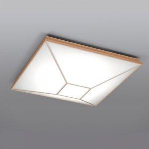 YAZAWA LEDシーリングライト ~12畳 高級和風木枠タイプ 電球色~昼光色 連続調色・連続調光機能付き LEC-CH1202CJ