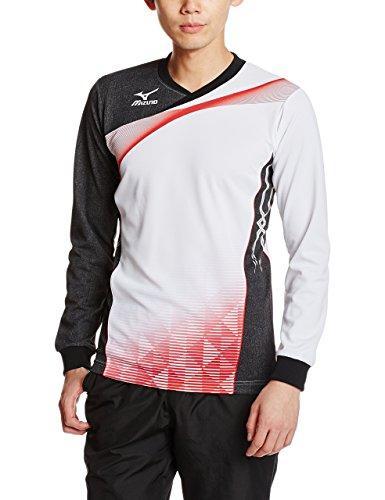 送料無料 MIZUNO ナガソデゲームシャツ 本物 V2JA6021 カラー:01 サイズ:XL 安い