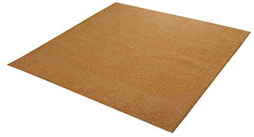 イケヒコ・コーポレーション ラグ カーペット 3畳 洗える タフト風 『ノベル』 オレンジ 約200×250cm 裏:すべりにくい加工 (ホットカーペット対応)【smtb-s】