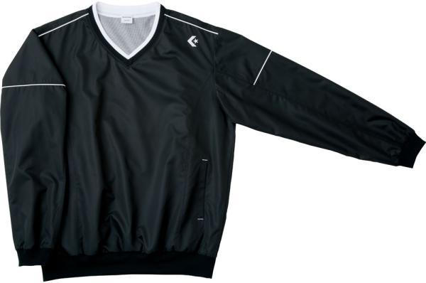 CONVERSE 6F Vネックウォームアップジャケット (CB162510S) [色 : ブラック] [サイズ : S]【smtb-s】
