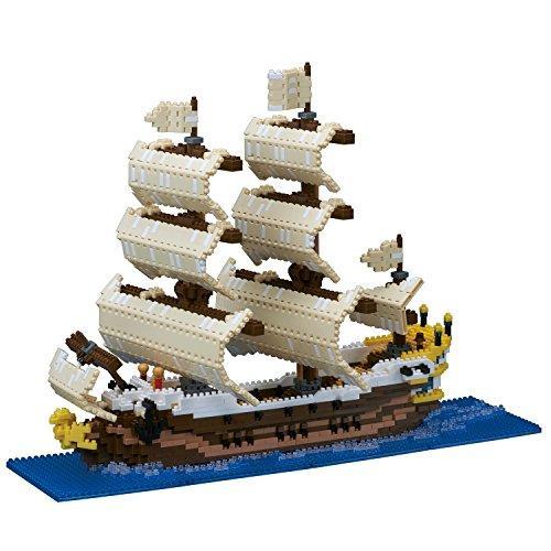 在庫処分 送料無料 カワダ NB-030 人気海外一番 nanoblock 帆船