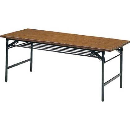 トラスコ中山(TRUSCO) 折りたたみ会議テーブル 1500X600XH700 チーク【smtb-s】