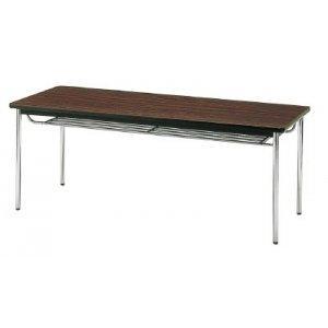 トラスコ中山(TRUSCO) 会議用テーブル 1800X600XH700 丸脚 ローズ【smtb-s】