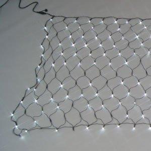 ジェフコム LEDクロスネット(ランダム点滅タイプ)白・白【smtb-s】