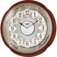 リズム時計 スモールワールド メロディ電波からくり掛時計(30曲入)  4MN480RH23