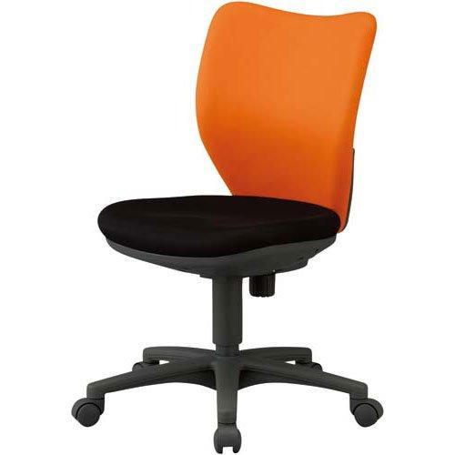 アイリスチトセ オフィスチェア ミドルバックタイプ オレンジ・ブラック code:7902034